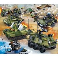 �e木男孩子�和�塑料拼�b�事�系列坦克玩具8-12�q�Y物