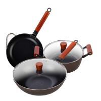 锅具套装组合 炒锅煎锅汤锅六件套 厨房套装锅