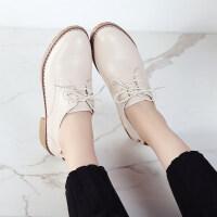 小皮鞋英伦女鞋新款夏季真皮单鞋文艺复古平底鞋百搭小白鞋女