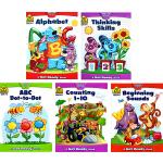 (100减20)School Zone Get Ready Workbook 5册 思维技能训练幼儿英文启蒙
