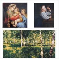杜曼全套闪卡教具 世界名画卡片 右脑开发训练大尺寸-胎教美图