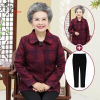 20181011040659461中老年人女装妈妈外套60-70-80岁奶奶秋装羊毛呢外套老太太衣服