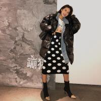 棉袄女2018新款冬季外套韩版中长款宽松bf加厚面包服羽绒棉衣