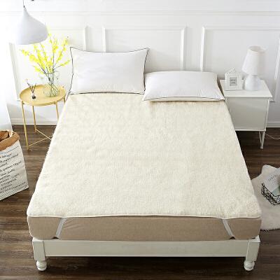 【任选3件4折,2件5折】当当优品羊羔毛床垫 纯羊毛全棉防潮床垫 双人加大床褥180*200cm当当自营