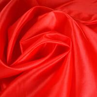红绸布 布料喜事婚庆庆典彩旗布料开业剪彩大红花绸布面料表彰婚车红绸子绸缎 长1mX宽1.5m