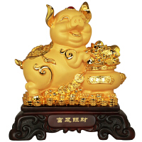 12生肖金猪摆件招财家居装饰品聚宝盆客厅酒柜电视柜摆设年会礼品
