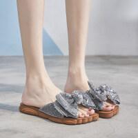 拖鞋女外穿网红半拖鞋凉拖鞋时尚女士平底沙滩鞋海边2019夏季新款