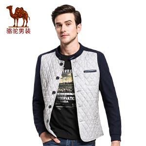 骆驼&熊猫联名系列男装 冬季时尚男士厚外套青年拼色夹克潮男