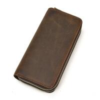 驾驶证钱包一体男士长钱包双拉链钱包牛皮双层手拿钱包手机包零钱包