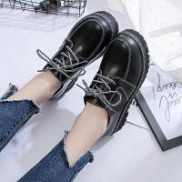 2019春季新款小皮鞋女学生韩版厚底原宿风复古学院风女鞋单鞋子