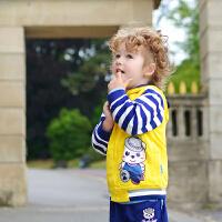 lavla童装 春秋款宝宝套装连帽 中小童婴儿春装两件套男童衣服0-3岁