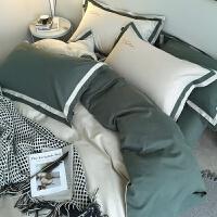 床上四件套全棉纯棉全棉裸睡超柔网红款床单被套床笠北欧风 1.8m床(适用于2.2x2.4m被芯) 订做改