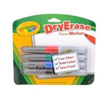美国[Crayola绘儿乐]4色易擦快干白板笔/马克笔 98-8626