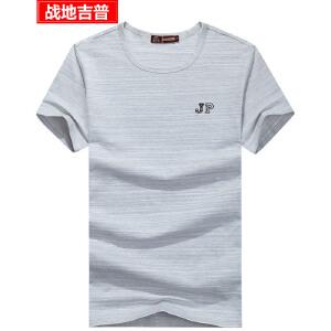 战地吉普纯棉短袖T恤男 男士时尚休闲彩棉圆领半袖打底汗衫
