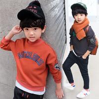 男童卫衣秋冬装中大童儿童保暖童装