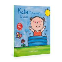 英文原版 Katie In Summer 凯蒂在夏天 低幼绘本 0-6岁 儿童图画书 亲子阅读
