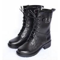 靴子 女士作训靴 女士保暖靴 加绒毛内里 马丁靴 女靴
