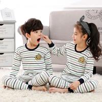儿童纯棉内衣套装春秋季男童女童装婴儿宝宝保暖秋衣秋裤睡衣套装
