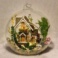 森林之家新品创意迷你拼装玻璃球diy小屋送朋友闺蜜生日礼物