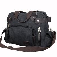 男包包英伦帆布包休闲手提包单肩斜挎包男士旅行包学生包