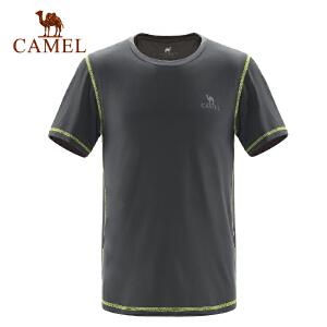 camel骆驼户外运动T恤 春夏男女透气圆领运动时尚短袖T恤