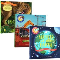 Shine A Light Books 英文原版 小达尔文大发现系列 光影魔术书 3册精装艺术科普动手操作之大成