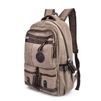 背包男士帆布双肩包韩版潮流时尚个性旅行包高初中学生书包电脑包