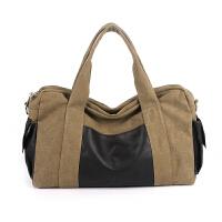 运动包手提包女短途旅行包帆布男单肩旅游包大容量行李袋健身包潮
