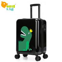 小学生儿童拉杆箱18寸20寸万向轮男恐龙行李箱公主旅行登机箱拖箱