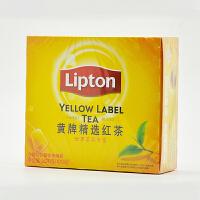 官方正品 Lipton/立顿红茶粉 黄牌精选红茶400g 袋泡茶包2gX200袋