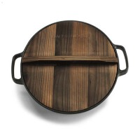 铸铁平底锅电磁炉煎蛋锅水煎包煎锅烙饼锅