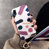 风网红xsmax苹果x手机壳7plus硅胶iphone8挂绳6sp简约新款女 6/6S 4.7寸