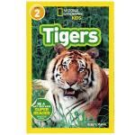 英文原版绘本National Geographic Kids Level2:Tigers 国家地理分级阅读 少儿科普百