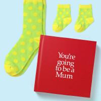 英文原版 你要当妈妈了 礼品书 送两双袜子 孕妇 亲子 新生儿礼物 YGTMUM You're Going to be