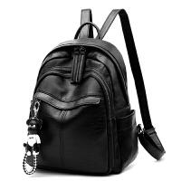 新款双肩包女士包包韩版pu皮学生书包休闲学院风潮流时尚女包背包