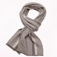 №【2019新款】冬天带的早安 围巾男秋冬英伦条纹商务男士羊绒围巾