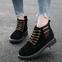 201909230444060712019冬季新款女鞋短靴女磨砂单靴小低跟百搭切尔西靴子棉靴雪地靴