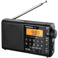 PANDA/熊� T-02老人收音�C新款插卡可充�播放器老年�S身�便�y式外放�歌�C全波段�V播�{�l短波fm半���w