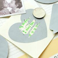 三年二班●韩国文具 刮刮卡贴纸 创意DIY涂层膜留言贴魔术贴