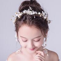 发饰珍珠发箍女童表演头饰女孩生日饰品花童礼服演出配饰