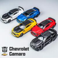 跑车合金车模1:32科迈罗金钢变形儿童仿真汽车模型玩具车