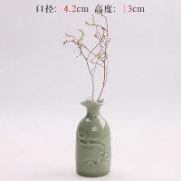 简约现代汝窑陶瓷花瓶瓷器摆设哥窑复古中式简约家居装饰桌面摆件