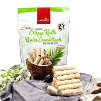 【当当海外购】泰国进口 奥娜斯ownace原味椰子卷 68g*2袋 椰奶芝麻蛋卷