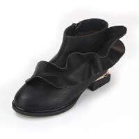 女童靴子秋冬2017新款韩版儿童单靴韩版女童马丁靴中大童公主短靴