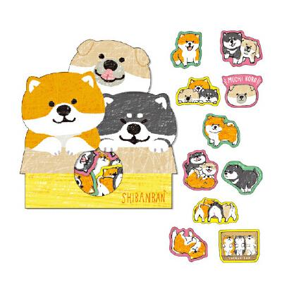 手账贴纸卡通动物表情可爱卡通小狗纸质贴纸手帐装饰日记贴纸包