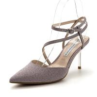 【限量秒杀】D:Fuse/迪芙斯春商场同款尖头高跟中后空女鞋DF81114184
