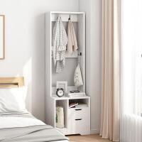 【爆款】落地衣架卧室收纳置物架床头柜带衣架简易ins北欧家用卧室衣帽架