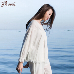 顶瓜瓜睡衣女春季纯棉 长袖甜美可爱韩版蕾丝公主新款家居服女