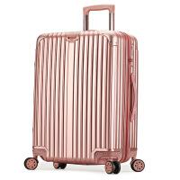 2018新款旅行箱拉链PC万向轮拉杆箱男女登机箱超轻行李箱20/24寸