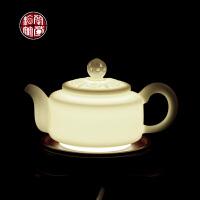 陈德根 高白瓷小茶壶陶瓷羊脂玉茶具配件家用功夫泡茶器单壶瓷器